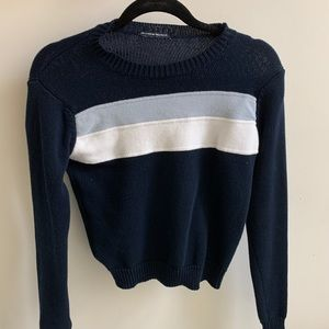 brandy melville sweater with blue stripe
